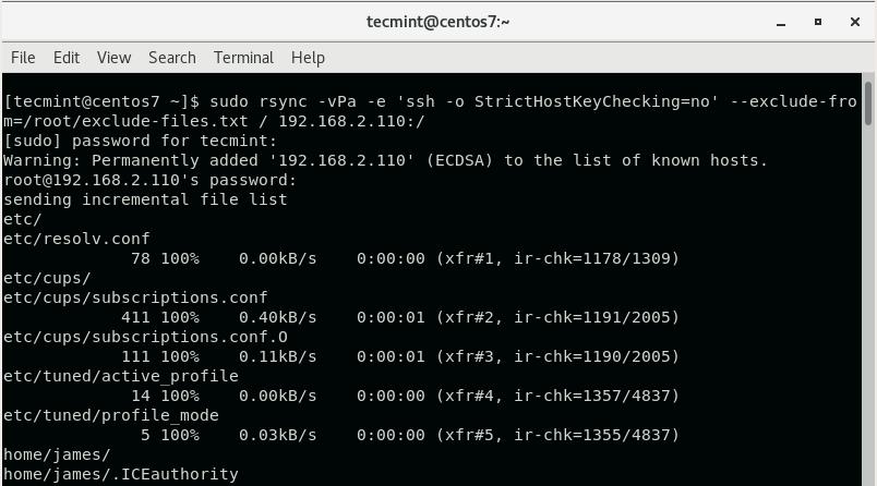 Clone CentOS Server