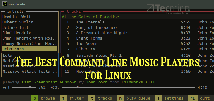 Commandline Music Players for Linux