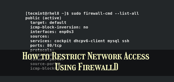 FirewallD Command Examples