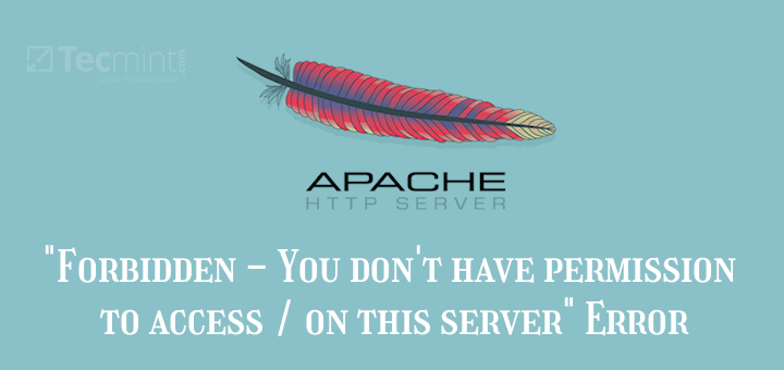Fix 403 Forbidden Error Apache