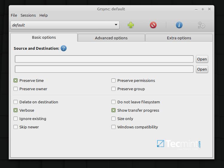 Grsync - Backup and File Synchronization Tool