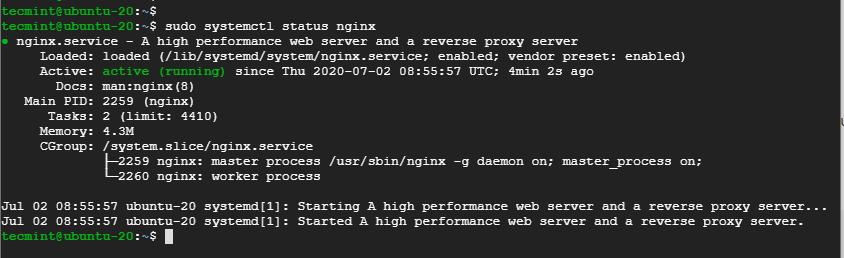 Verify Nginx in Ubuntu 20.04