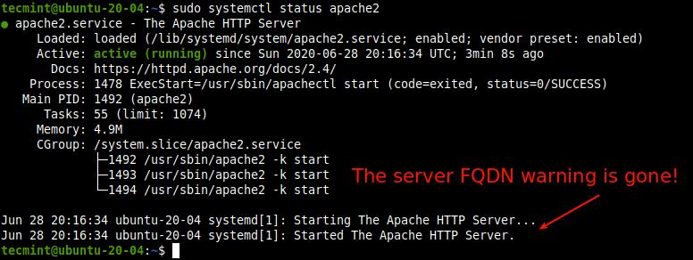 Check Apache Service Status