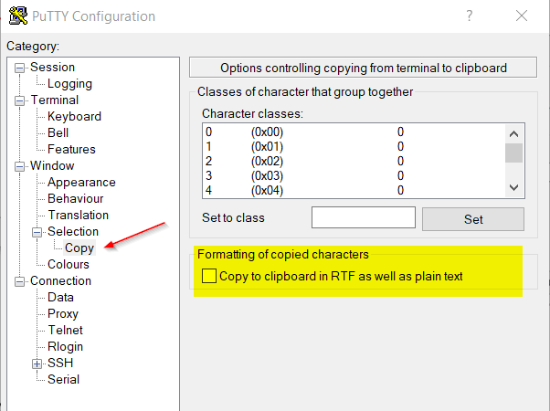 Enable Rich Text Format