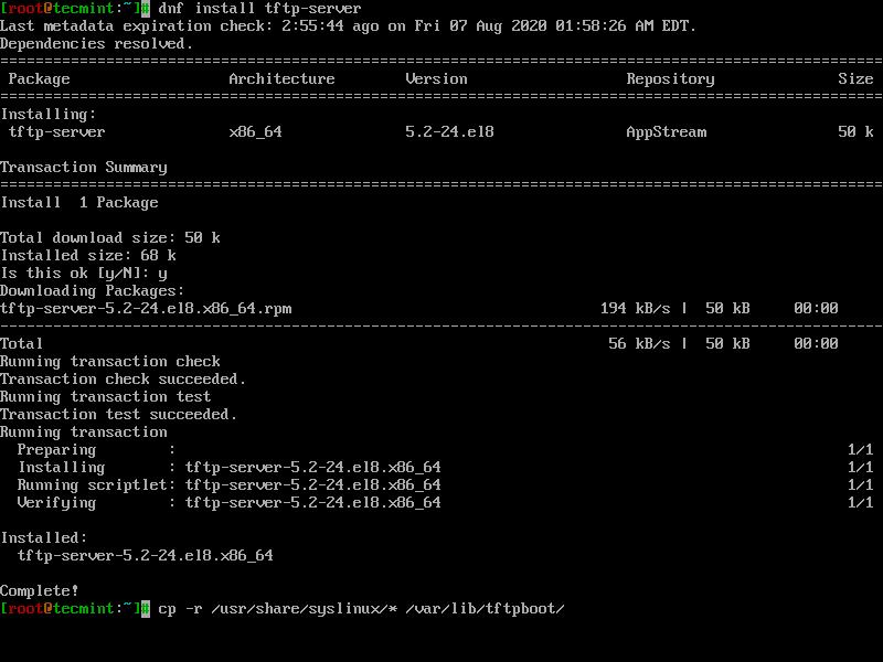 Install TFTP-Server in CentOS