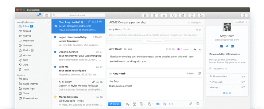 Mailspring - A Desktop Email Client