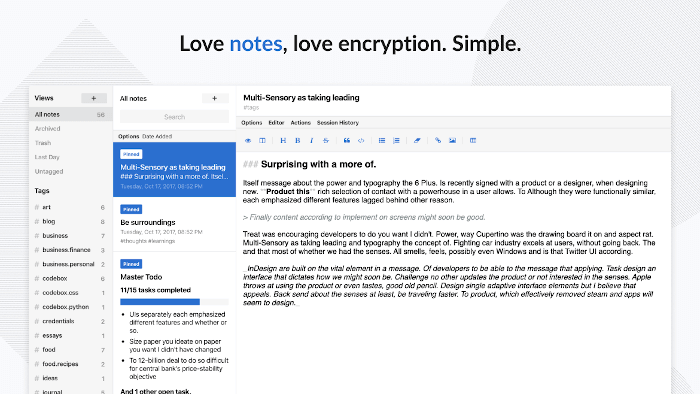 Standard Notes - A Simple And Private Notes App