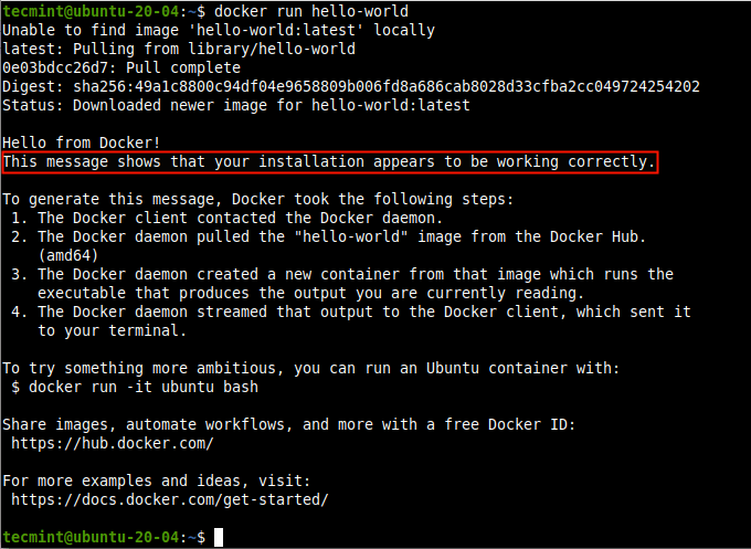 Verify Docker Installation