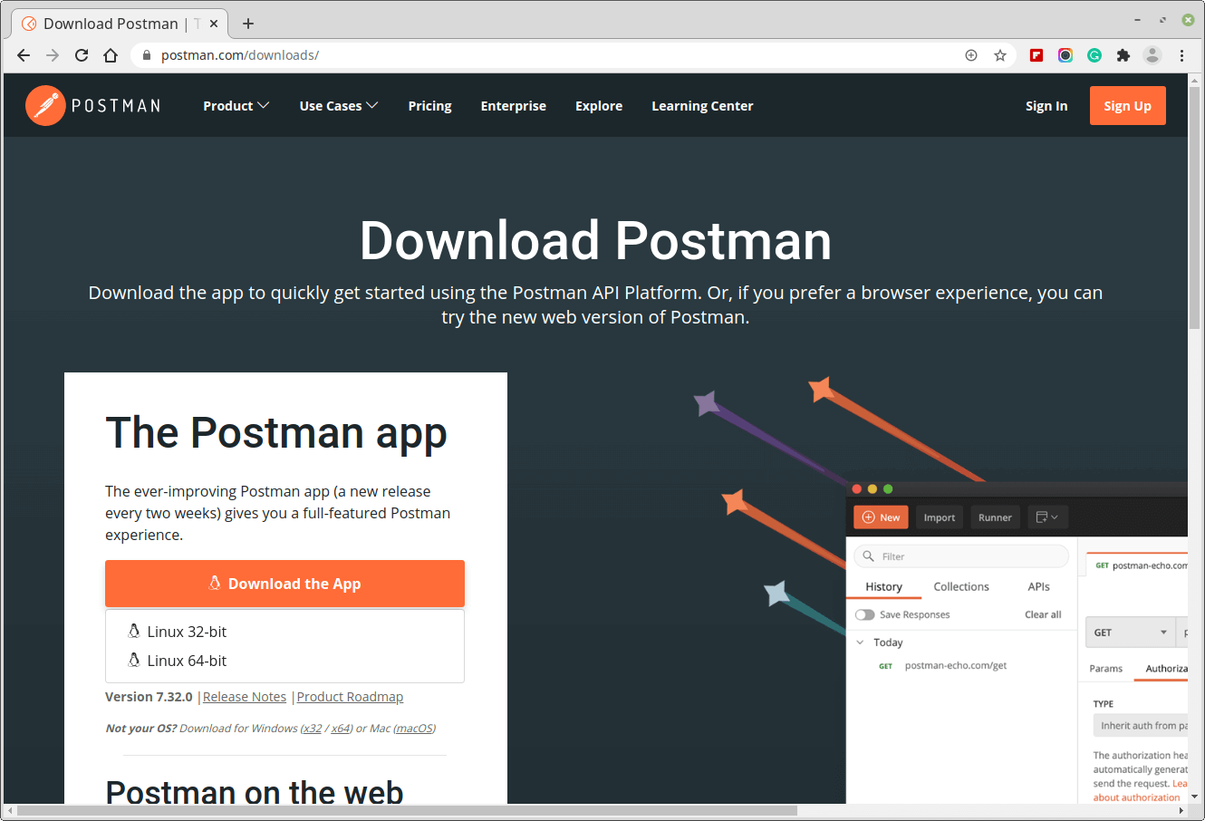 Download Postman Desktop App