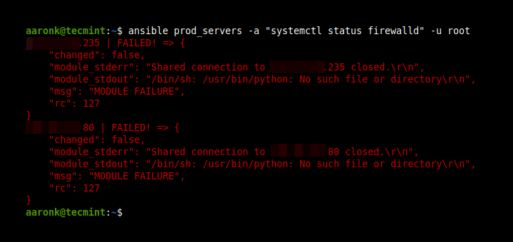 Fix Ansible Shared Connection Error