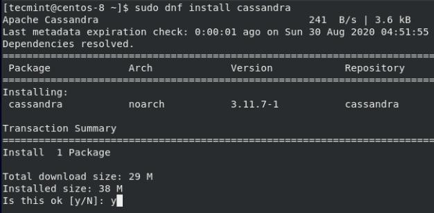 Install Apache Cassandra in CentOS