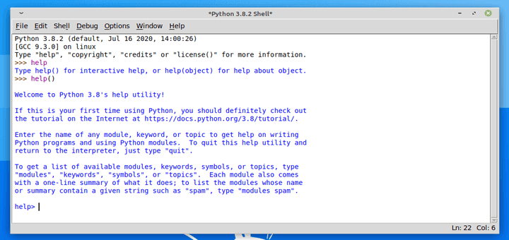 Install Python IDLE in Linux