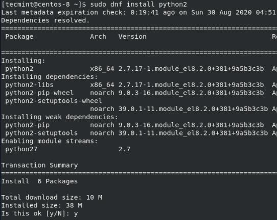 Install Python2 in CentOS