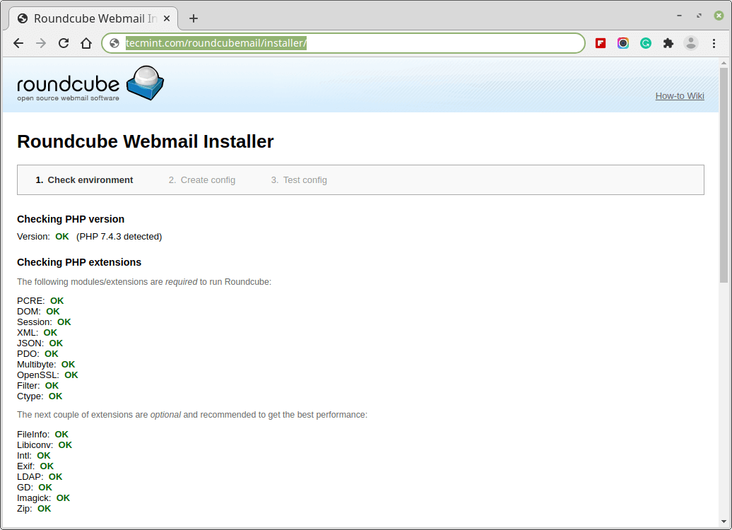 Roundcube Webmail Installer