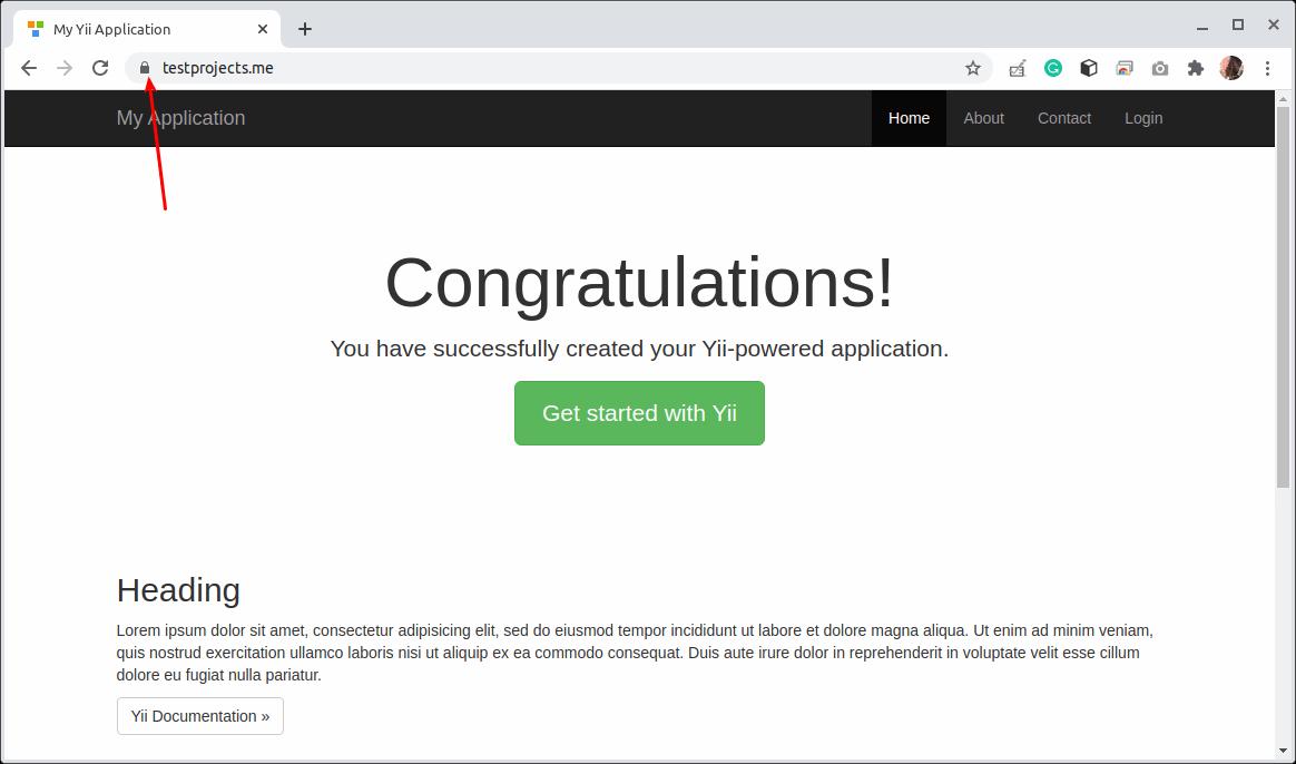 Yii Application Running on HTTPS
