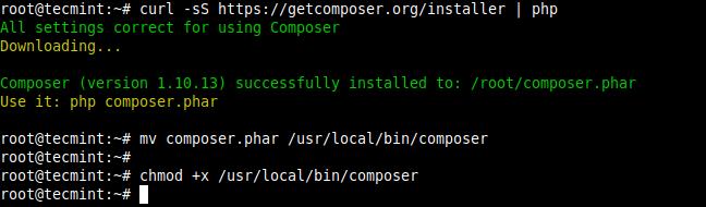 Install Composer in Ubuntu