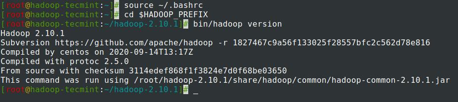 Check Hadoop Version in CentOS 7