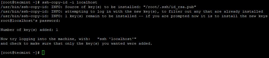Copy SSH Key to CentOS 7