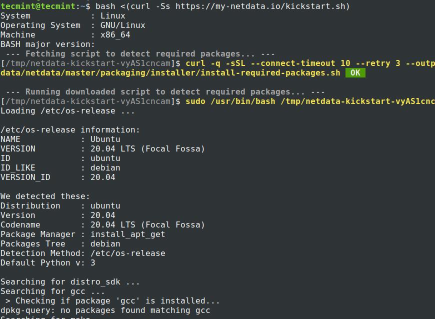 Install Netdata in Ubuntu