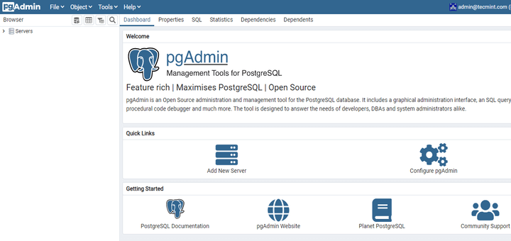 Install PostgreSQL with Pgadmin in RHEL 8