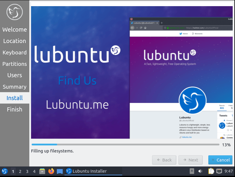 Lubuntu Installation