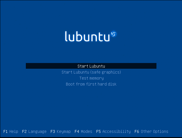 Start Lubuntu Installation
