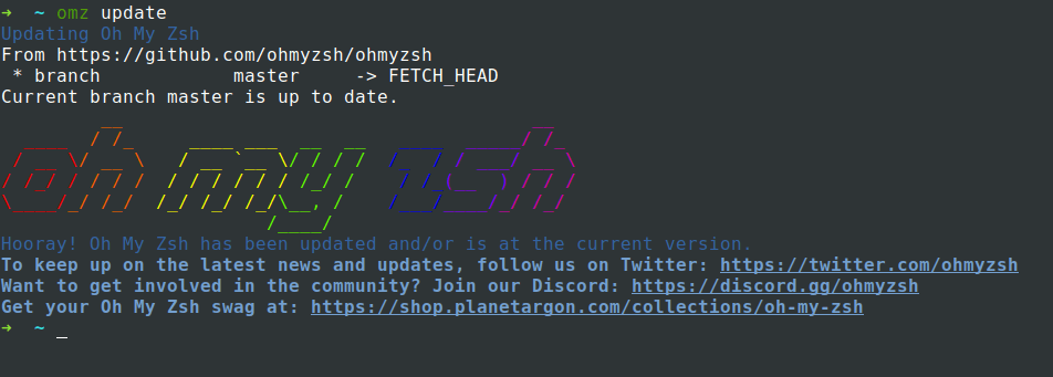 Update Oh-My-Zsh