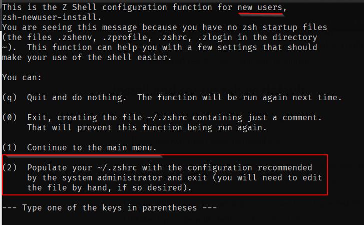 Zsh Default Parameters