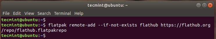 Adding Flathub Repository