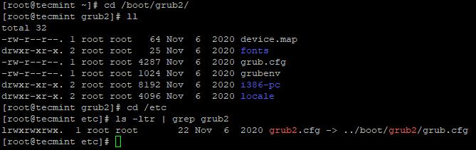 Check Grub Files