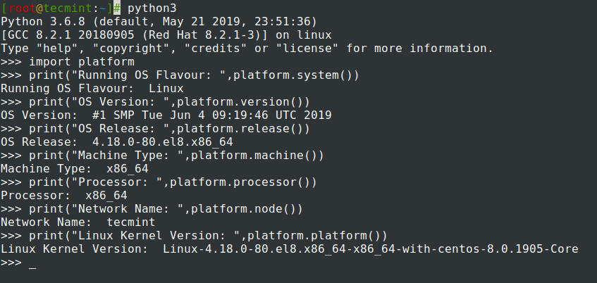 Check Linux System Information