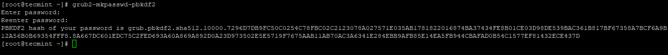 Create Bootloader Password
