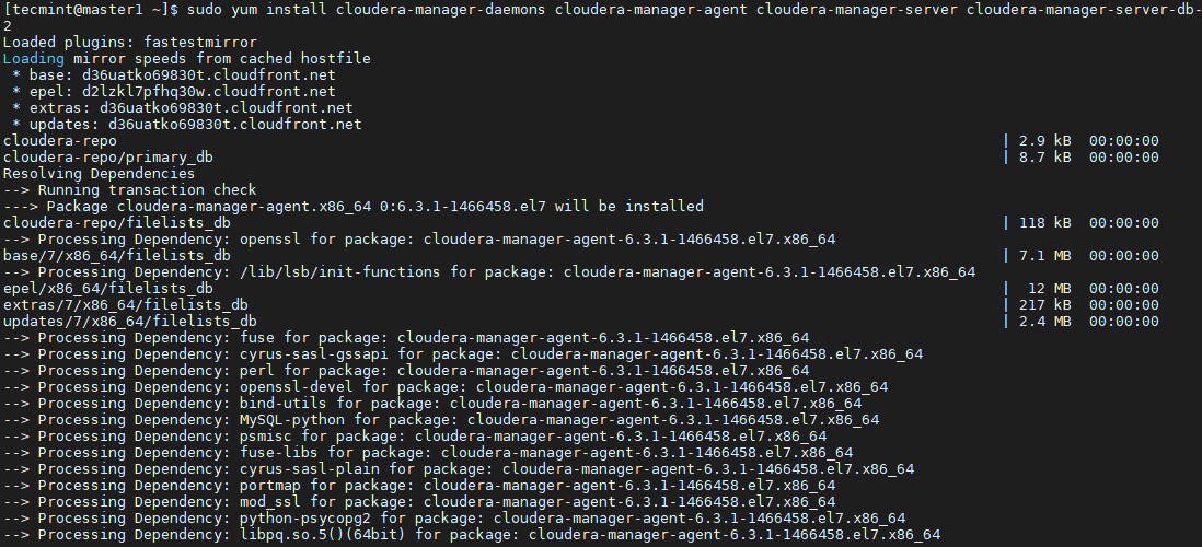 Install Cloudera in CentOS