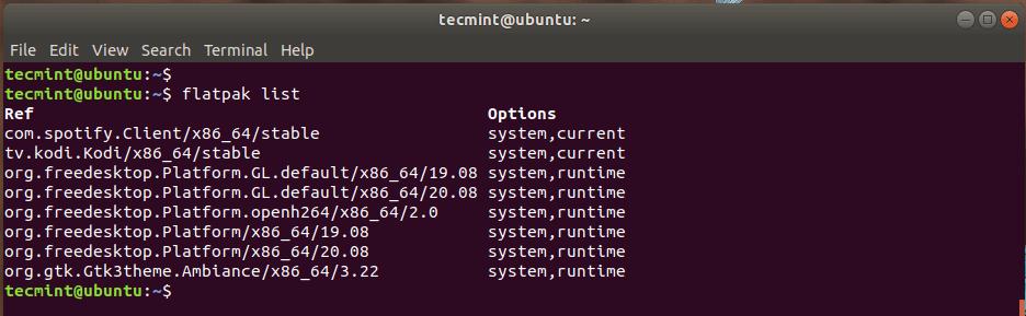 List Flatpak Applications