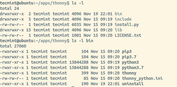 Thonny Directory