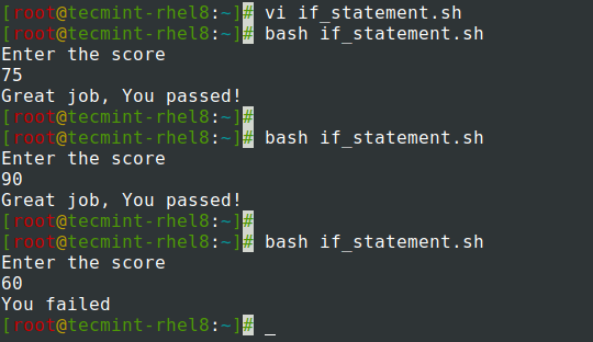 if-else statement in Shell Script