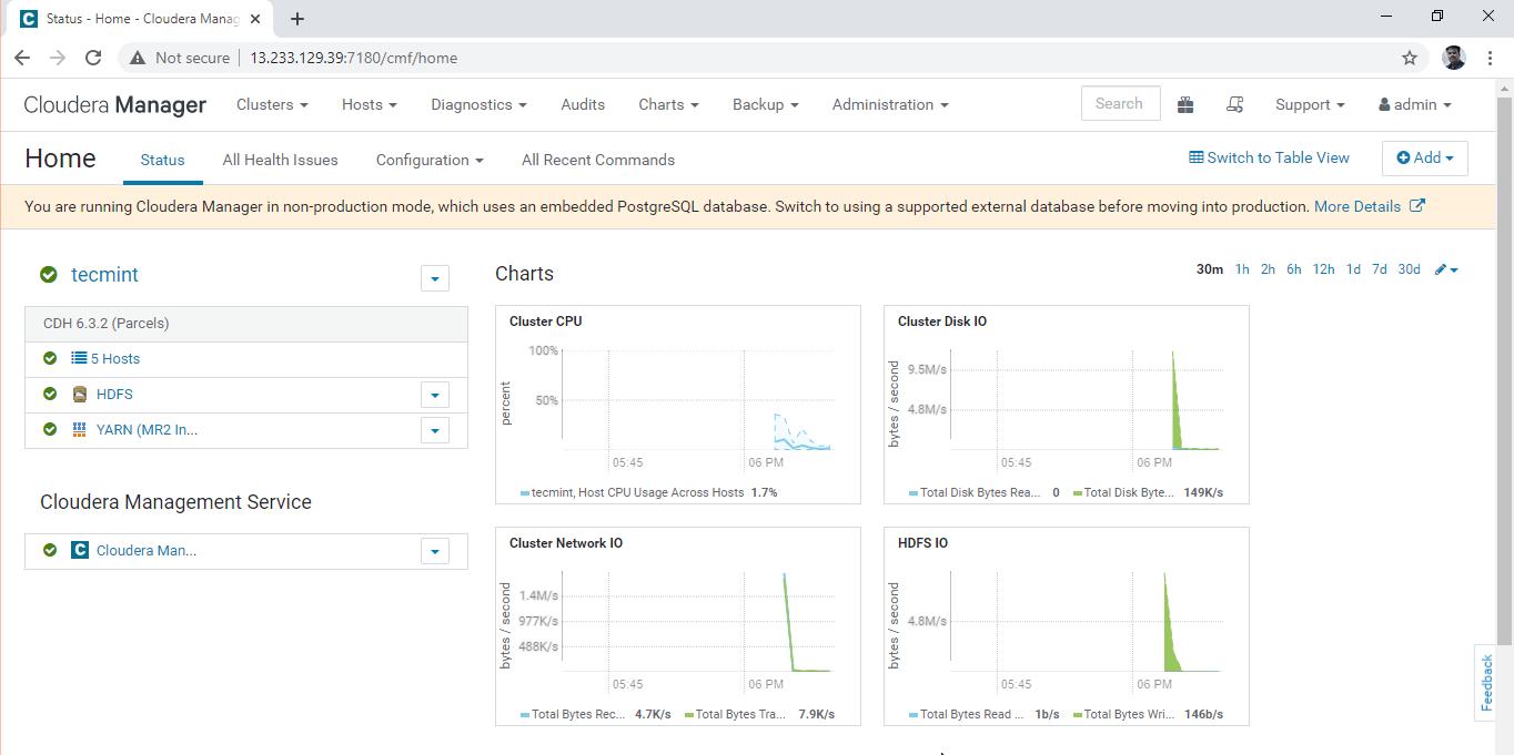 Cloudera Manager Dashboard