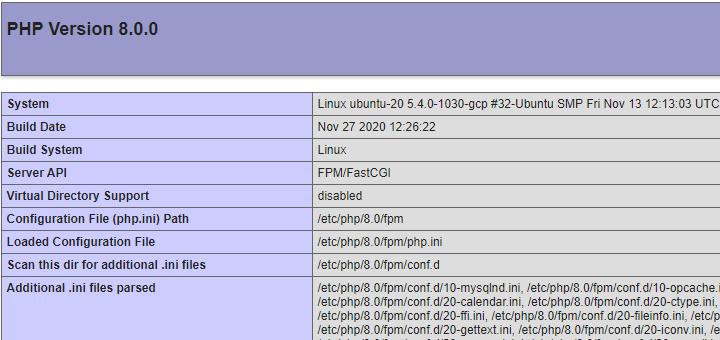 Install PHP 8 in Ubuntu