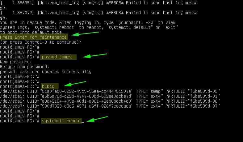 Reset Password in Ubuntu