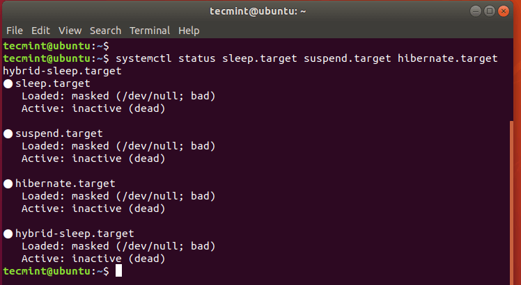 Verify Suspend and Hibernation in Ubuntu