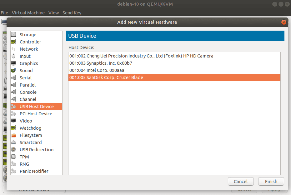 Add USB Device to VM