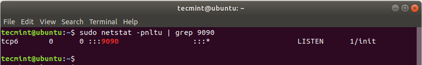 Check Cockpit Web Port in Ubuntu
