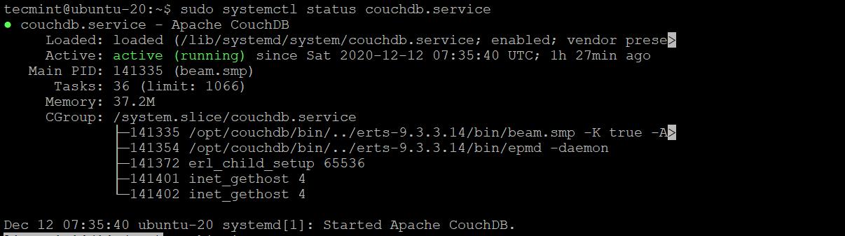 Check CouchDB Status