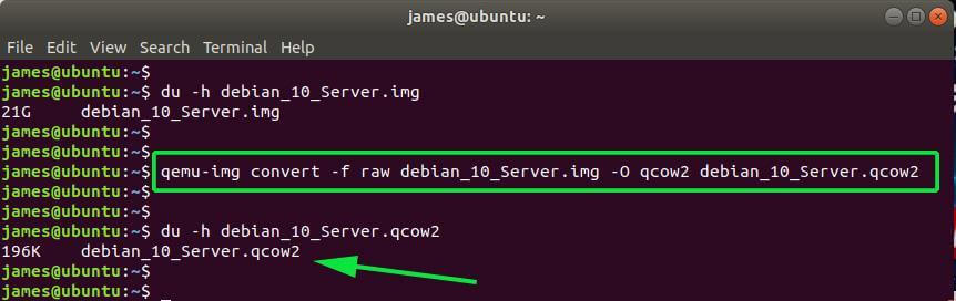 Check Disk Space of qcow2 Image