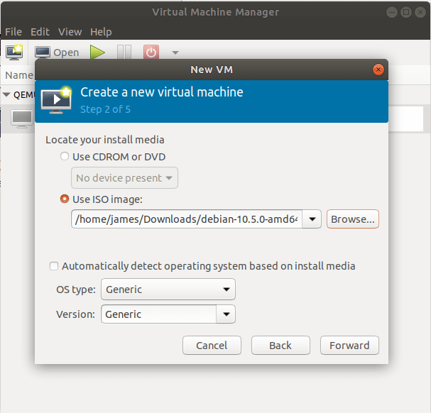 Choose OS Type