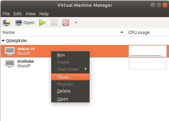 Clone KVM Virtual Machine