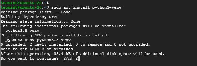 Create Python Virtual Environment