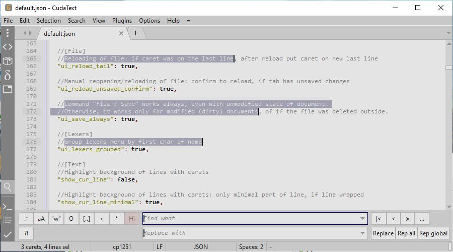 CudaText - cross-platform text editor