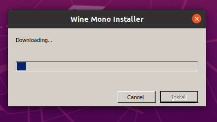 Downloading Wine Mono Installer