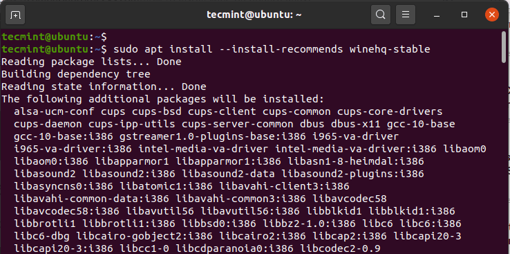 Install Wine in Ubuntu 20.04